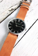 Orion Watch, Black Face with Tan Leather Strap