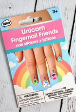 Unicorn Fingernail Friends and Cuticle Tattoos