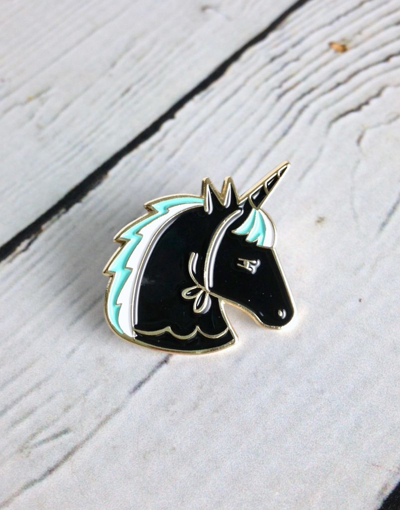 Crashed The Party Unicorn Lapel Pin