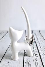 Stoneware Cat Ring Holder