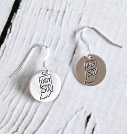 Handstamped Indy 500 Earrings
