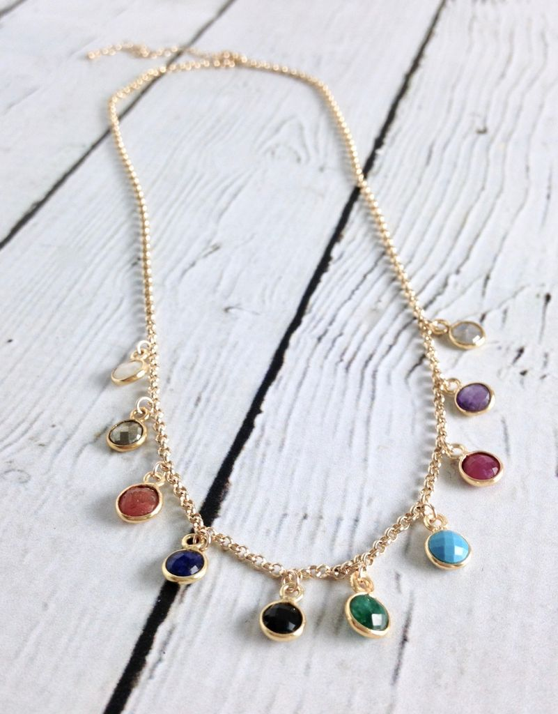"Handmade ""Seek it All"" Sterling Silver Multi-Beaded Gem Necklace"