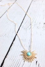 """Handmade Sterling Silver """"Turquoise = Abundance"""" Necklace"""