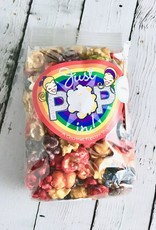 Small Bag of Just Pop In! Confetti Popcorn with Rainbow Label