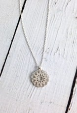 """Handmade Maya Angelou """"A Woman is Careful with Judgement..."""" Womanhood Necklace"""