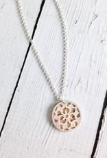 """Handmade """"Continue to Let Gratitude…"""" Double Charm Necklace"""