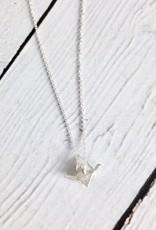 "Handmade ""Happy Future"" Origami Crane Necklace"