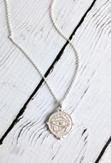 """Eye of Horus"" Coin Necklace"