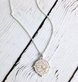 """""""Eye of Horus"""" Coin Necklace"""