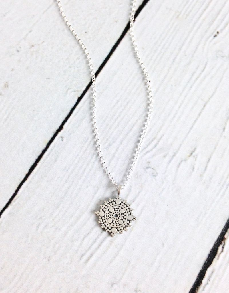"Handmade ""Balance"" Small Center Circle Mandala Necklace"