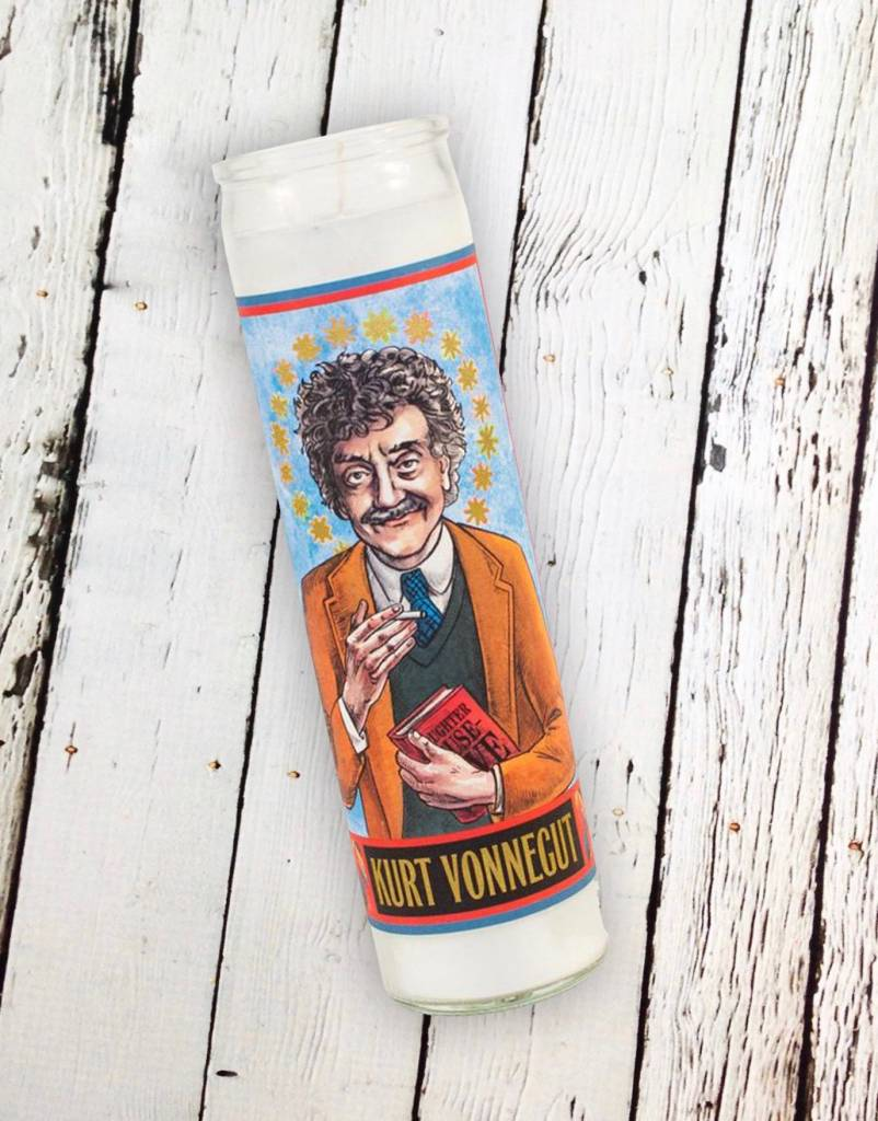 Kurt Vonnegut Secular Saint Candle