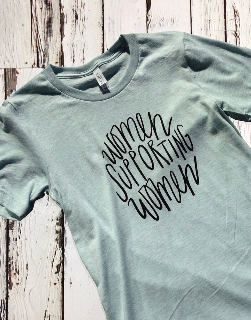 Women Supporting Women Tee - Silver in the City
