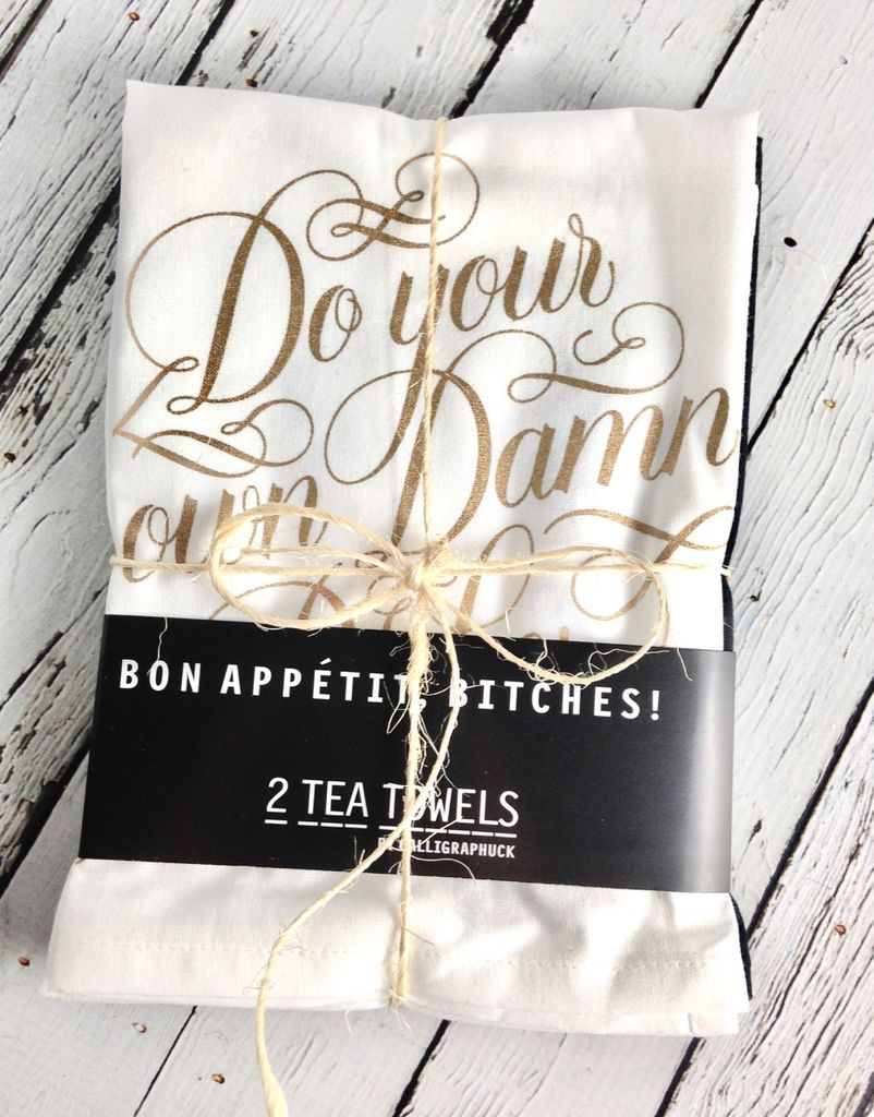 Bon Appetit, Bitches! 2 Tea Towels