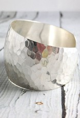 Sterling Silver Hammered and Tapered Cuff Bracelet