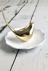 Zinc Ring Holder with Gold Bird