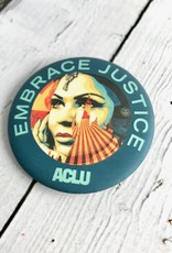 Limited Edition Embrace Justice pin by Shepard Fairey.For every ACLU Pincause sold, Pincause donates $2.50 to ACLU National.