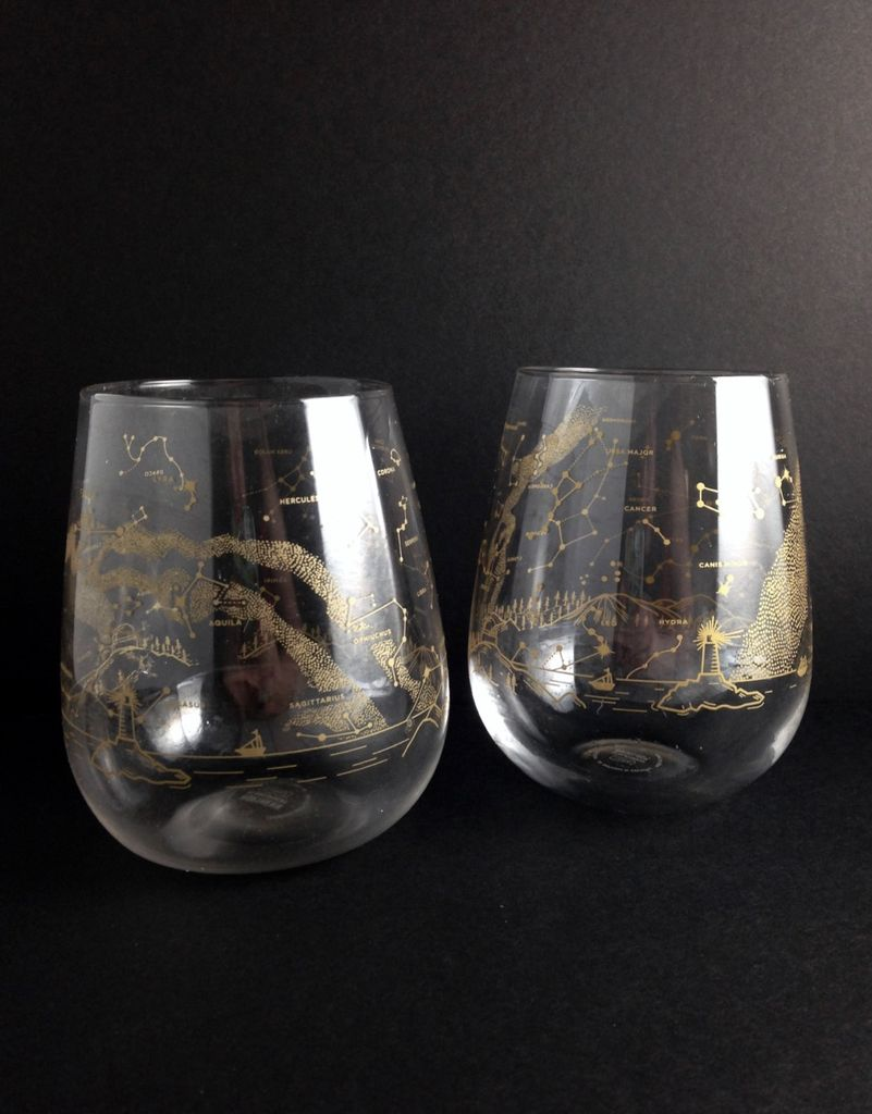 Northern Hemisphere Night Sky Wine Glasses