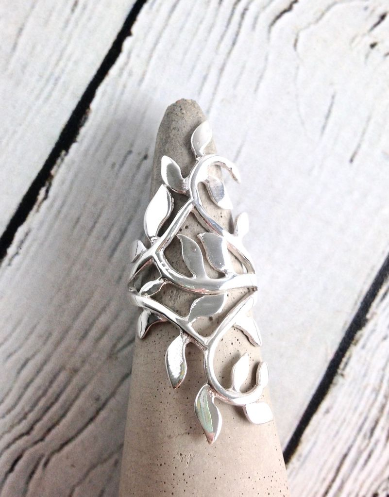 Sterling Silver Climbing Vine Ring, Size 8