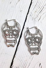 Sterling Silver Sugar Skull Earrings