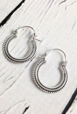 Sterling Silver Bali Hoops