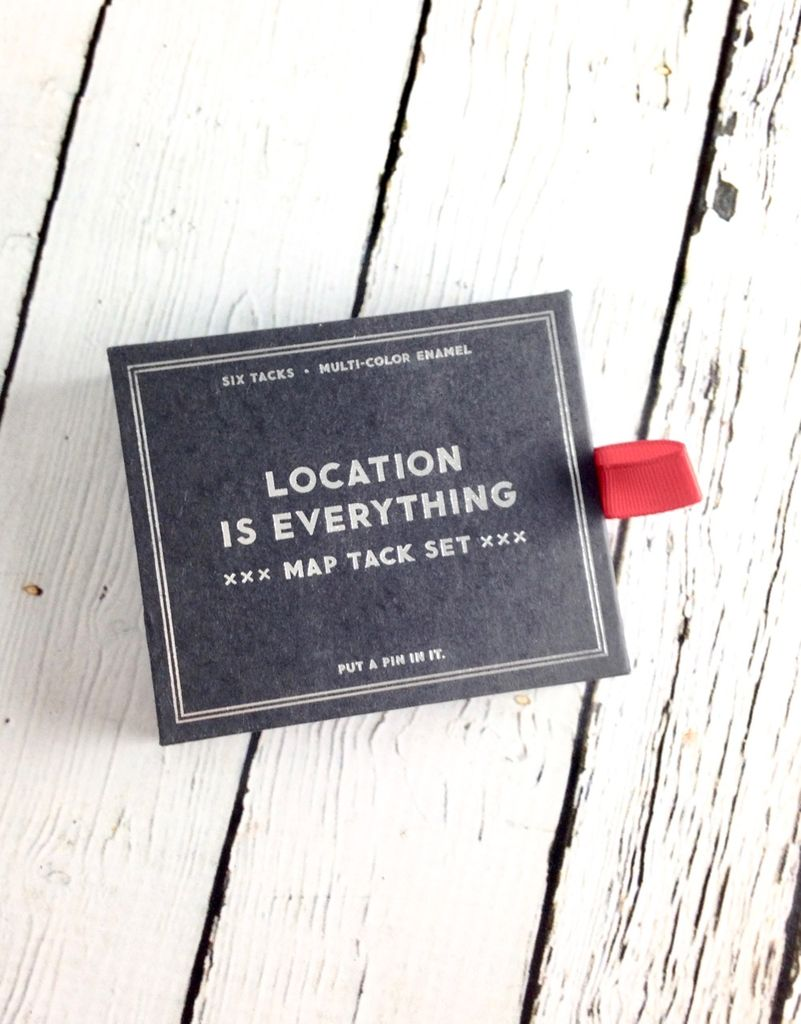 Location Is Everything Map Tack Set