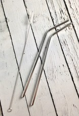 Stainless Straw Set: 2 Straws and Cleaner