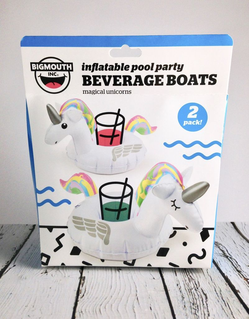Rainbow Unicorn Beverage Boats 2-pack