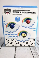 Happy Rainbow Beverage Boats 3-pack