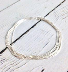 Sterling Silver Spark Chain Bracelet