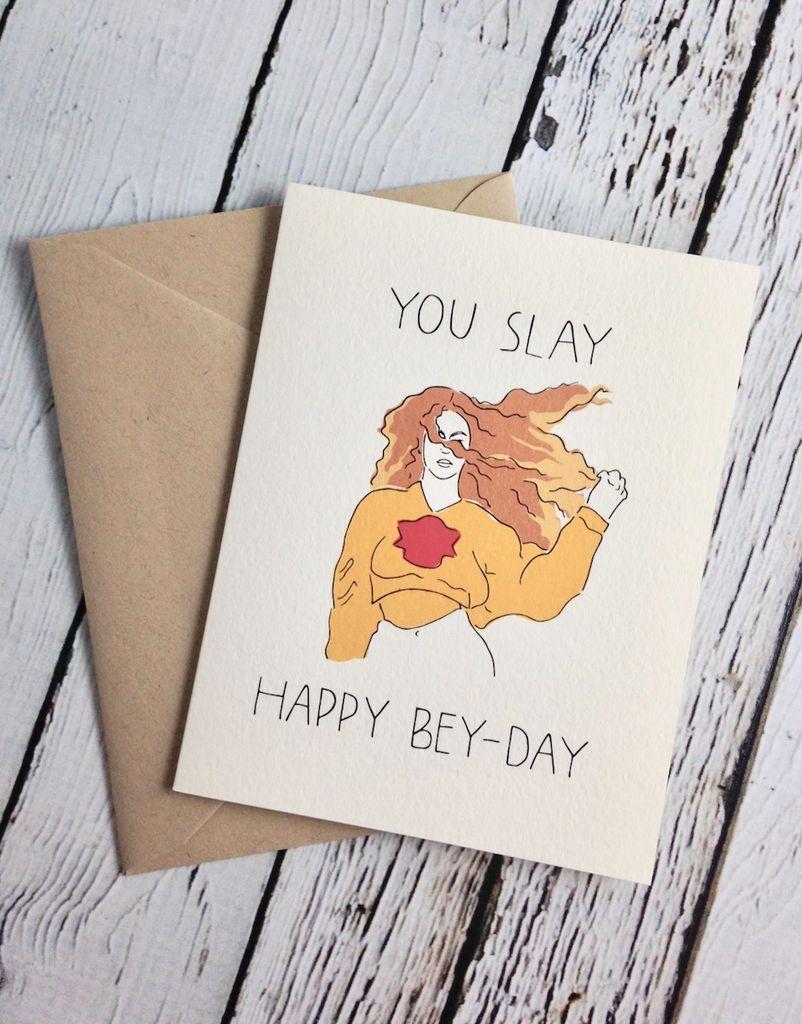 You Slay Chella Birthday Card