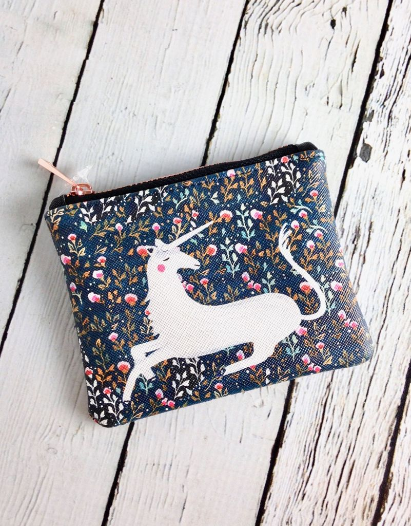 Magical Unicorn Small Zippered Pouch