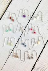Handmade Tiny Birthstone Stack Earrings