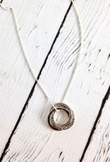 Sterling Silver and Marcasite with Square Resin Inlay Necklace