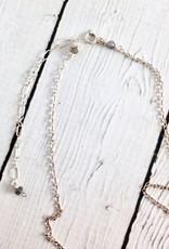 Handmade Silver Necklace with Blue Labradorite Drop