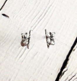 Sterling Silver Koala Stud Earrings