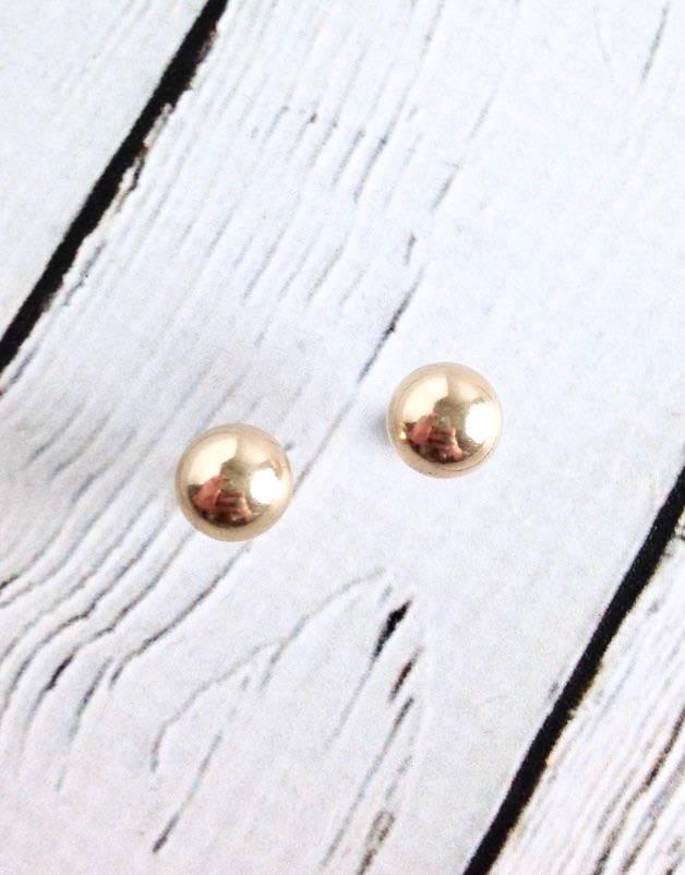 Gold Filled Ball 10mm Studs
