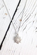 """Handmade Sterling Silver Necklace with Maya Angelou """"I Encourage You"""" Quote"""
