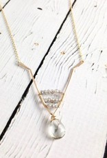 Handmade Gold Vale Necklace with Silver Mystic Topaz