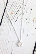 Sterling Silver Teeny Wishbone Necklace