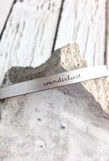 LaurelDenise Adjustable Leather Bracelet, wanderlust, silver