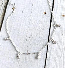 Handmade Starry String Light 5 Dangling Crystal Choker