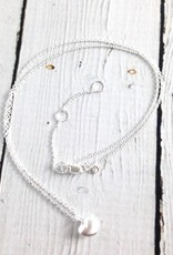 Matte Silver Tiny Heart Necklace