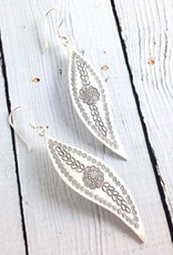 Hill Tribe Stamped Leaf Earring