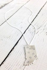 Handstamped Firefly Large Indiana Necklace