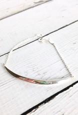 Sterling Silver Crescent Bracelet