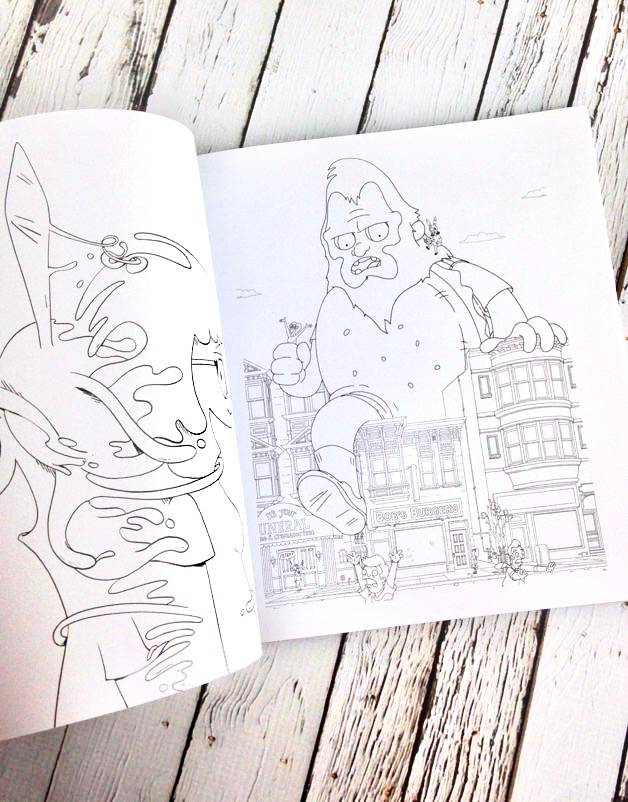 Bob's Burgers Adult Coloring Book