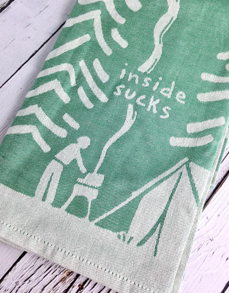 Inside Sucks Woven Dish Towel