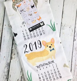 Canine Calendar Tea Towel