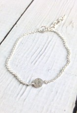 Sterling Silver Lucky Charm  Compass Charm Bracelet