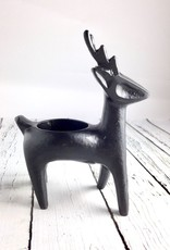 Black Deer Candle Holder